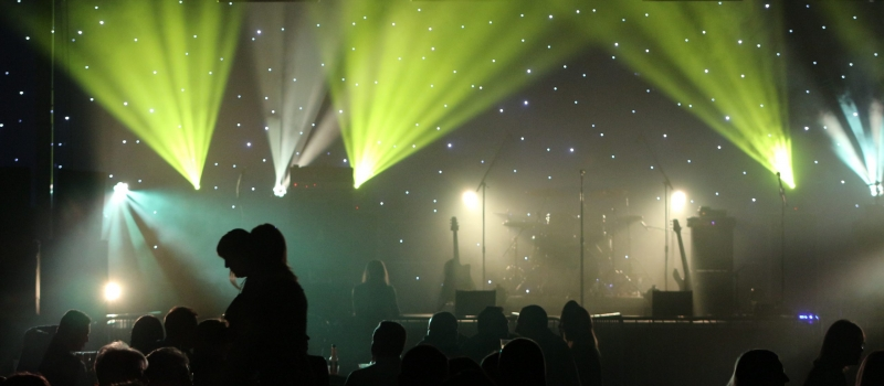 Lighting effects for music event