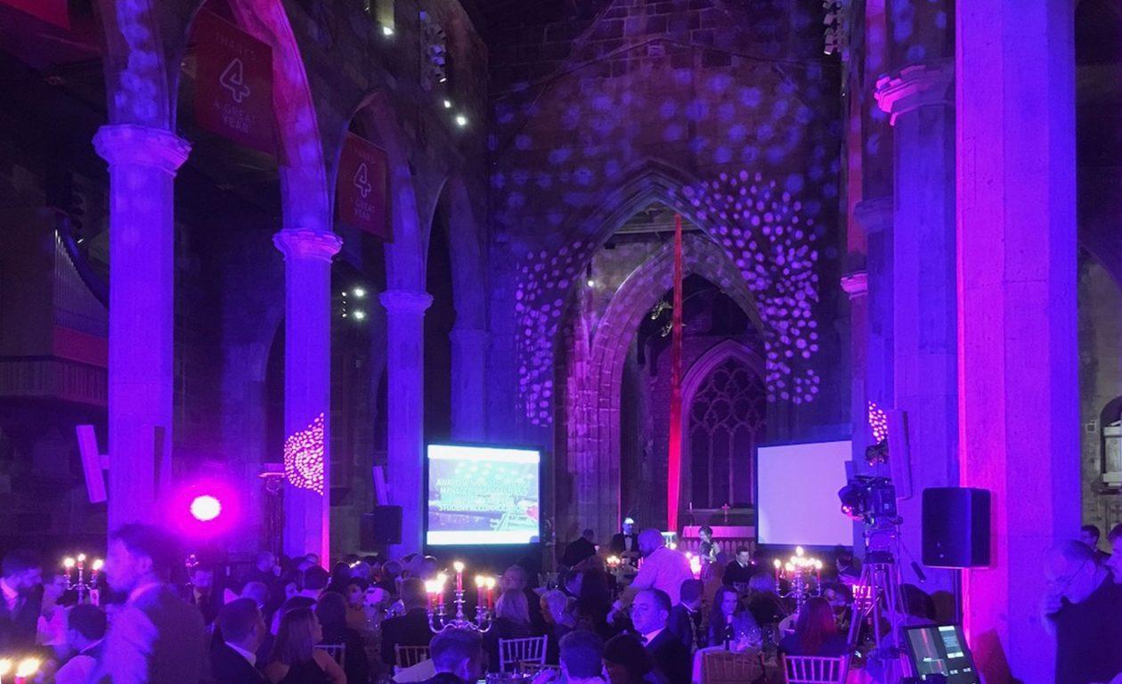 Lighting effects in church venue