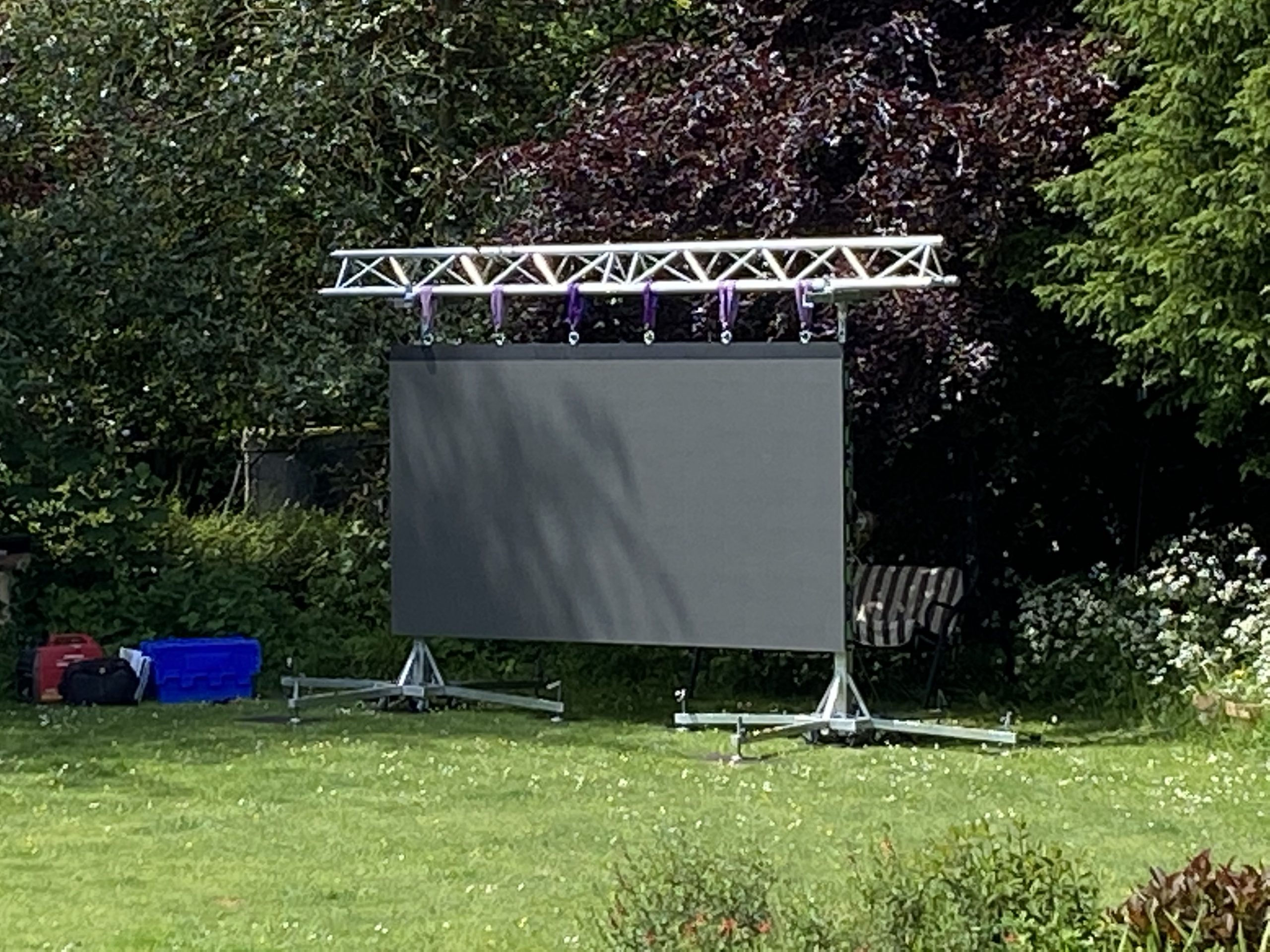 Outdoor LED cinema screen