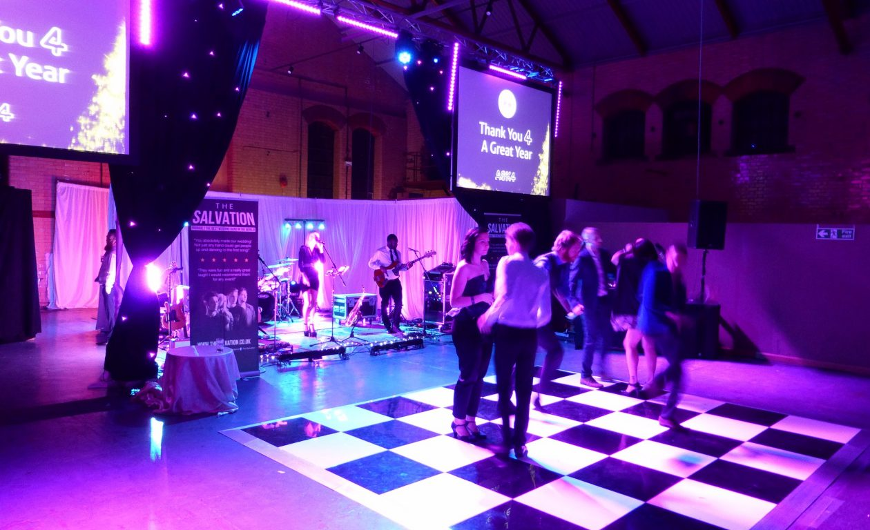 Dance floor and lighting for an awards ceremony